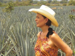 Romero Mena in the agave fields.