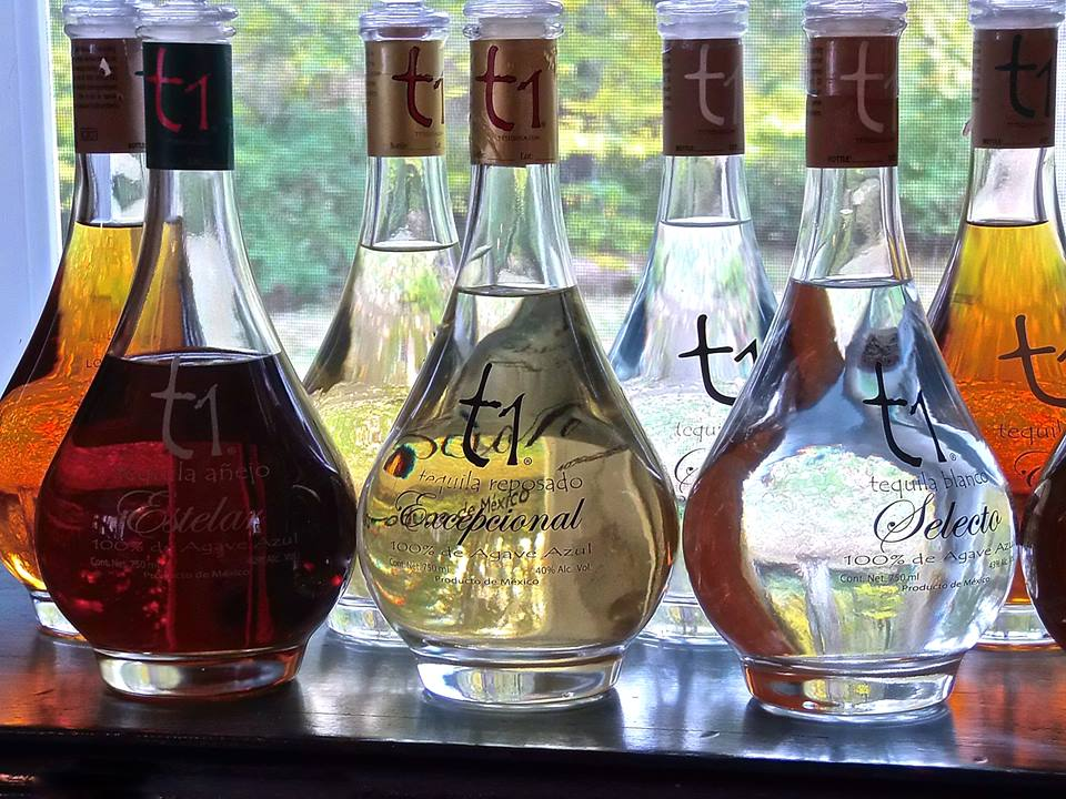 The entire line of T1 Tequila Uno.