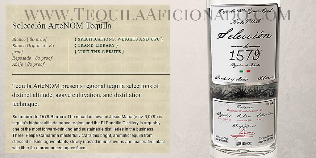 Sipping Off the Cuff: Seleccion ArteNOM 1579 Tequila Blanco http://wp.me/p3u1xi-4i2